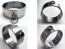 Ultra Rare 6CM Extra Tall Heavy Stainless Steel Neck Ring Cuff Collar Brace Lock