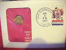 1967 #43 99 COMPANY FIRST DAY FIRST ISSUED U.S.COPPER 1 CENT LINCOLN BUST RIGHT