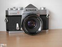 Konica Autoreflex T Spiegelreflexkamera + Objektiv Hexanon AR 1,8/52mm lens