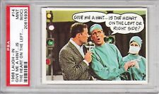 """1968 Topps Laugh-In #14 """"Give Me A Hint...Is The Heart On The Left?"""" PSA 9 (OC)"""