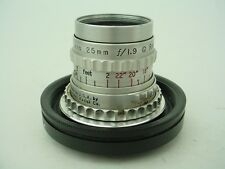KODAK CINE EKTAR 25MM f/1.9 Lens w/Panasonic Lumix mount Adpt- Nice Glass !