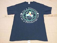 "Pittsburgh Steelers T Shirt ""Tis a Blessing"" Irish Lucky Green M Medium NFL EUC"