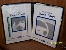 1998 Ford Escort ZX3 Owners Manual With Folder