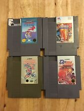 Lot of 4 NES Games Dribble Basketball, Blades Of Steel, California, Karate Champ