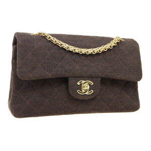 CHANEL Classic Double Flap Small Chain Shoulder Bag 6930308 Dark Brown M15355