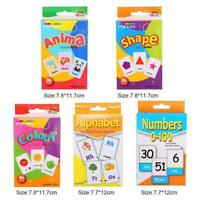 Kid English Early Learning Color Card Paper Educational Preschool Funny Toys