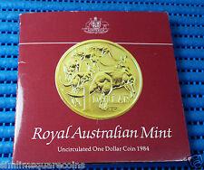 1984 Australia $1 Uncirculated One Dollar Coin