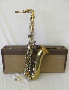 Vintage 1960's Buescher 400 Tenor Saxophone with Pearl Inlay Keys