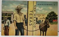 I am in Texas, but my ass is in New Mexico Cantile & Co Bank Linen Postcard E13