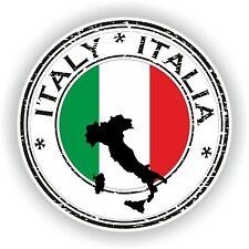 Seal Sticker of Italy Italia Stamp Bumper Roundel Laptop Car Truck