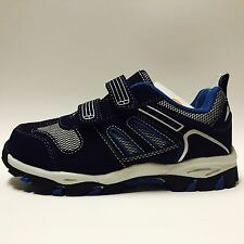 Gymboree Boys Shoes Blue Navy Sneakers Size 13 Uniform Shop Touch Fastener