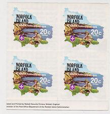 (T10-101) 1978 Norfolk Island 4set 4blocks boy scouts