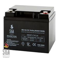 Blei Akku 12V 50Ah AGM Gel Batterie SEHR ZYKLENFEST ersetzt 38Ah 40Ah 42Ah 45Ah