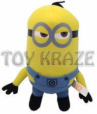 "DESPICABLE ME 2 PLUSH! SMALL MINION TIM YELLOW SOFT DOLL FIGURE 6.5-7"" NWT"