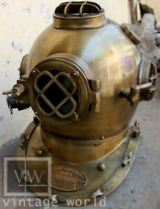 New Model Diving Helmet 18 Inch Us Navy Mark IV Vintage Divers Helmet Replica