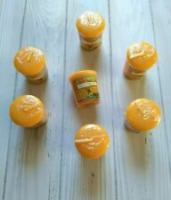 Yankee Candle Samplers Juicy Orange Citrus Votive Lot of 7 Candles