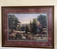 """Home Interior Homco Beautiful""""Jeweled Falls"""" Picture(Designer Series) Sambataro"""