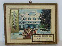 Vintage 1950s SIMON SIMON'S COFFEE ADVERTISING Thermometer SPRINGFIELD MISSOURI