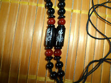 New Natural Black Jade Gems Beads Necklace- Beaded Necklace Pendant Accessories