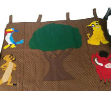 Disney Lion King Baby Nursery Window Wall Hanging Panel Hand Sewn Cotton (E