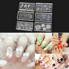 Acrylic Mixed Shapes Decoration DIY Manicure Template Nail Art Mold 3D Silicone