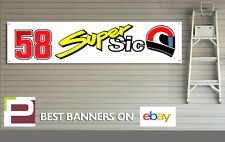 58 SUPER SIC Marco Simoncelli Workshop Garage Banner / man cave, Moto GP, Honda