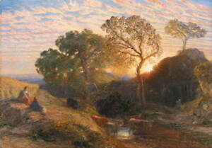 Samuel Palmer Sunset Giclee Art Paper Print Paintings Poster Reproduction