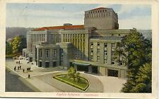 Czech Austria Teplice Teplitz - Theater 1927 postcard mailed in 1928 cover