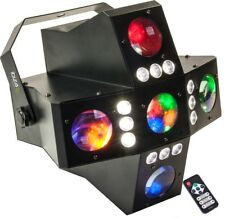 "IBIZA Light ""CROSS-GOBOFX"" DMX-28 Kanal LED-Gobo-Strobe-Lichteffekt 2-in-1!"
