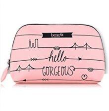 Benefit Cosmetics Hello Gorgeous Pink Makeup Dome Travel Bag + BONUS