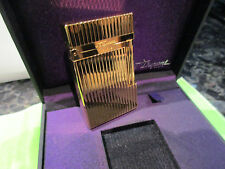 S.T.DUPONT BRIQUET L2,LIG VERTICAL PL OR 24K GOLD PLATED, 016827 NEW IN BOX