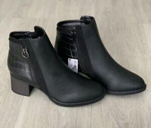 NEXT FOREVER COMFORT Ladies Black BLOCK HEEL CHELSEA BOOTS Size Uk 6 New