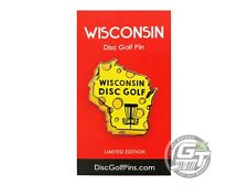 Disc Golf Pins Wisconsin Enamel Disc Golf Pin - Yellow Cheesehead