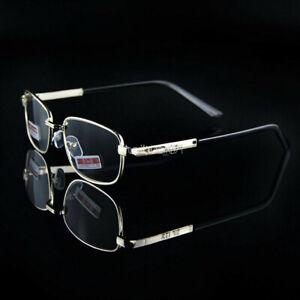 Men's Reading Glasses +4.5 +5.0 +5.5 +6.0 Optical Lenses Gold Metal Frame Reader