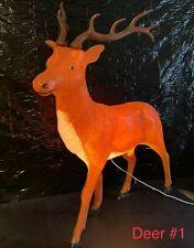 """Vintage Large 43"""" Tall Standing General Foam Blow Mold Plastic Reindeer Deer"""