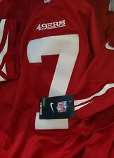 NEW Nike NFL Colin Kaepernick San Francisco 49ers Red On Field Jersey Men's S