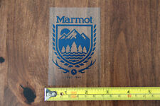 MARMOT Clothing and Equipment STICKER Decal NeW BLUE SHIELD