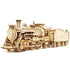Steam Express Train with Tender3D Laser cut Wooden Model Kit Robotime DIY Craft
