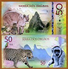 Brazil, Serra dos Órgãos National Park, 50 Reais, Polymer, 2018 > Jaguar, Monkey