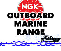NEW NGK SPARK PLUG Marine Outboard Engine MERCURY 15hp 2-Stroke 01-->06