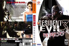 Resident Evil 3 CUSTOM SEGA DREAMCAST CASE (NO GAME)