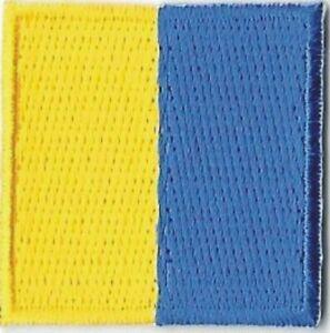 """1 1/4 """" International Maritime Nautique Signal Drapeau Lettre K Kilo Patch"""