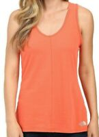 The North Face Women's Orange Breezeback Knit Tank Top size L