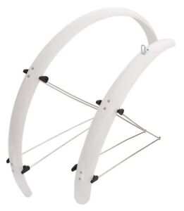 "Mudguards Set White Orion 28"" x 48 mm Bicycle Mudguards"