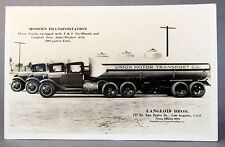 Langlois Bros. UNION MOTOR TRANSPORT TANKER TRUCKS L.A. RPPC Real Photo postcard