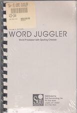SunRem Issue of Apple IIe Word Juggler - Word Processor/Manual & Disks - SEALED!