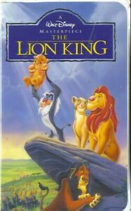 Lion King VHS Video Tape, Original cover and VHS