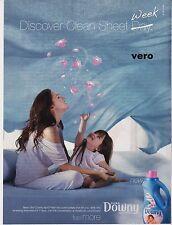 DOWNY 2010 magazine ad print art clipping laundry softener Mom Girl pink bubbles