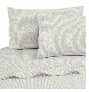SALT 200-Thread-100% Cotton Percale TWIN/TXL Sheet Set In Bag Brush Iris  NEW