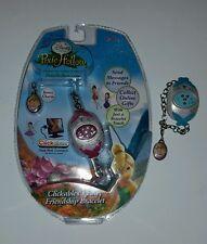NIP New Disney Fairies Pixie Hollow Clickables Fairy Friendship Bracelet + Bonus